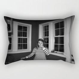 white stripes Rectangular Pillow