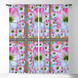 PINK-WHITE AMARYLLIS PATTERN DESIGNS Blackout Curtain