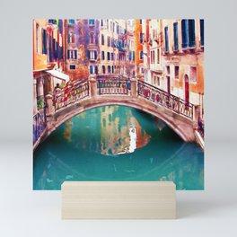 Small Bridge in Venice Mini Art Print