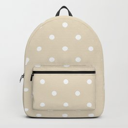 Polka Dots Pattern: Light Beige Backpack