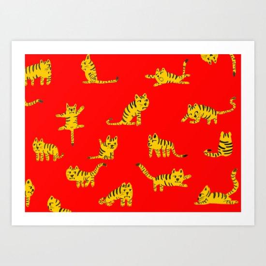 Tigrrrrs Art Print