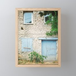 Picturesque house with wooden windows in the Provence Framed Mini Art Print