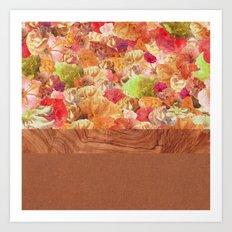 Layers Floral Wood Art Print
