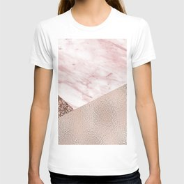 Cotton candy dreams - rose gold T-shirt