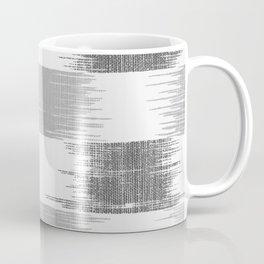 Modern black gray white ikat pattern Coffee Mug