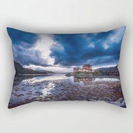 Dark Skies at Eilean Donan Castle Rectangular Pillow