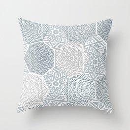 Silver Souk Throw Pillow