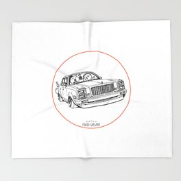 Crazy Car Art 0203 Throw Blanket
