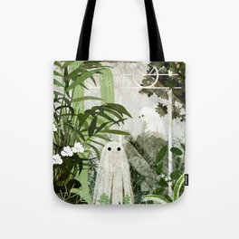 There's A Ghost in the Greenhouse Again Tote Bag