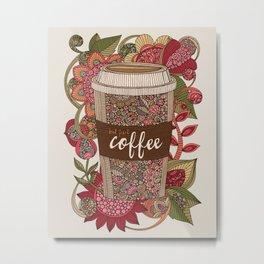 But first coffee Metal Print