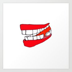 BIG MOUTH Art Print
