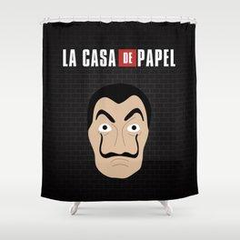 Dalí La Casa de Papel Shower Curtain