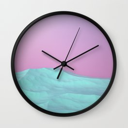 Pastel Lands Wall Clock