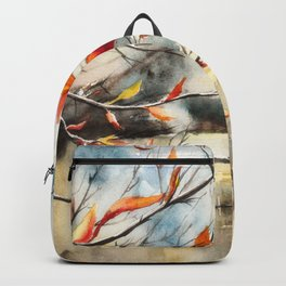 Autumn Colours Watercolour Painting Backpack