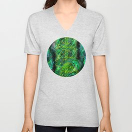 Instant Connection - Abstract Fusion Collection Unisex V-Neck