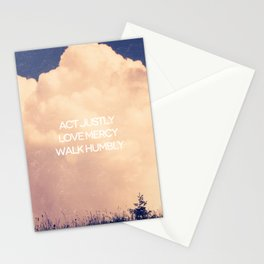 Love Mercy - Micah 6:8 Stationery Cards