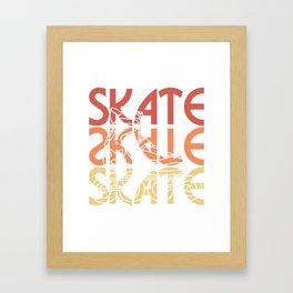 roller skates inline  gift idea scooters sport Framed Art Print