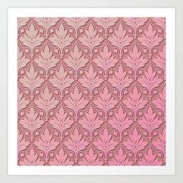 AMOROSO DAMASK - Beautiful Design - PINK PANACHE Art Print