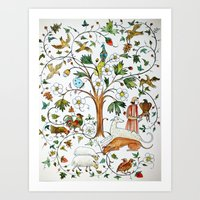 medieval Art Prints featuring MEDIEVAL by oxana zaika