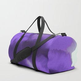 Abstract Watercolor Ultra Violet Duffle Bag