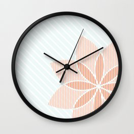 Floral Stripes Wall Clock