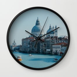 Travel photography | Architecture of Venice | Pastel colored buildings and the canals | Italy Art Print Wall Clock