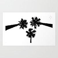 Palm Tree Trio Art Print