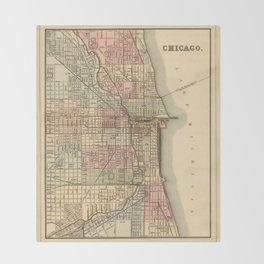 Vintage Map Of Chicago Decke