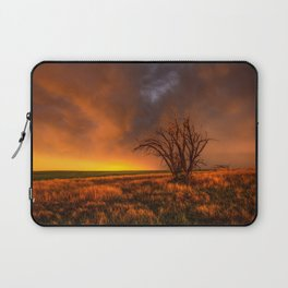 Fascinations - Warm Light and Rumbles of Thunder in Oklahoma Laptop Sleeve