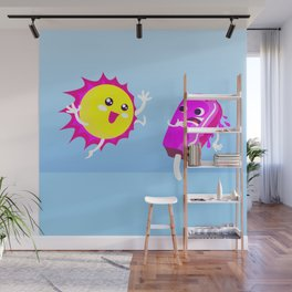 Sun Hug Ice Cream Scream Wall Mural