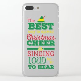 Christmas Cheer Clear iPhone Case