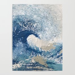 The Great Wave Abstract Ocean Poster
