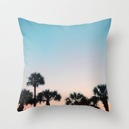 Sky Full of Palm Trees Throw Pillow