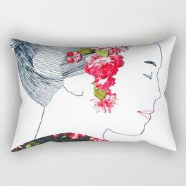Sewing Portrait 4 Rectangular Pillow