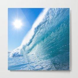 Waves Duvet Blue Ocean Metal Print