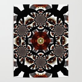 Production Of Flowers Into Abstract Poster