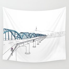 Dongjak Bridge in Seoul Wall Tapestry