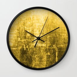 SunYellowTextured & Distressed Design Wall Clock