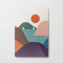 Cat Landscape 12 Metal Print