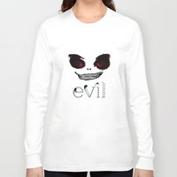 evil Long Sleeve T-shirts featuring Evil by Timkirman
