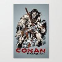 conan Canvas Prints featuring Conan by CromMorc