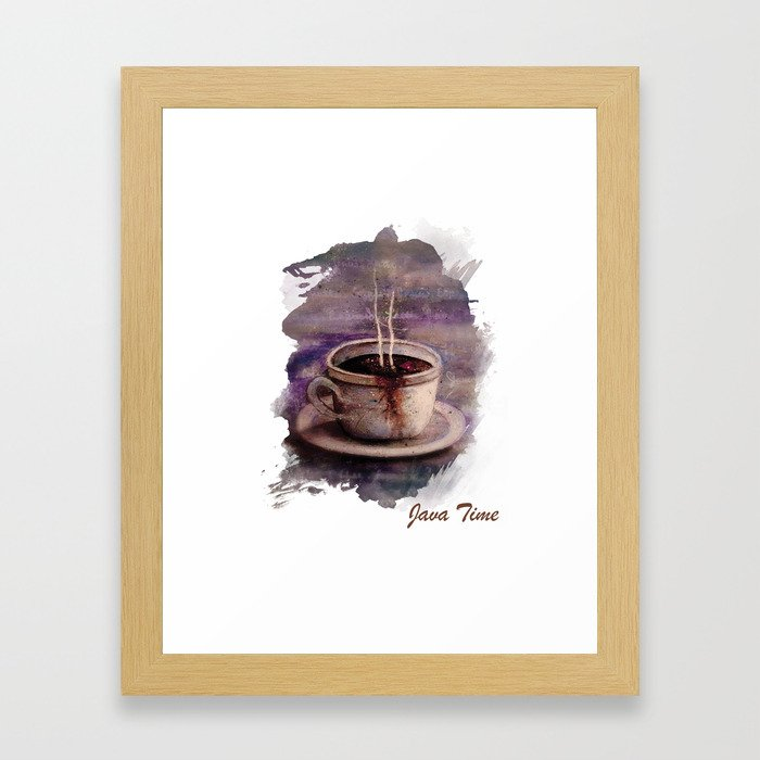 Java Time Framed Art Print
