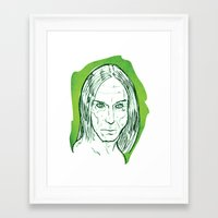 iggy pop Framed Art Prints featuring Iggy Pop! by BTillustration