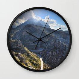 Road to Sa Calobra,Mallorca Wall Clock