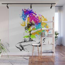Hip hop dancer jumping Wall Mural