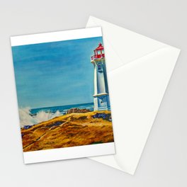 Lighthouse by the Sea Stationery Cards