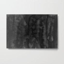 Black Ink Art No 2 Metal Print