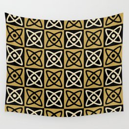 Mid Century Modern Atomic Check 131 Wall Tapestry