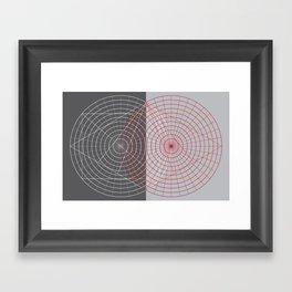 Confused lines Framed Art Print
