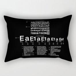 Helvetica Rectangular Pillow